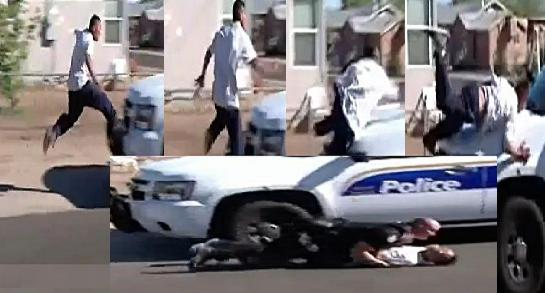 Phoenix Police Chase Roof Jumper For Stealing Candy -