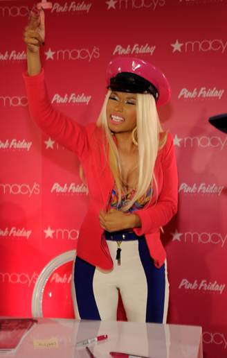 08fbb06e46e1f Nicki Minaj launched her first fragrance, Pink Friday, at Macy's Herald  Square NYC yesterday.